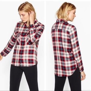 Zara Plaid Red and Black Flannel size XS